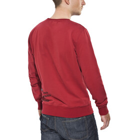 ÖTILLÖ French Terry Peached Midlayer Heren rood
